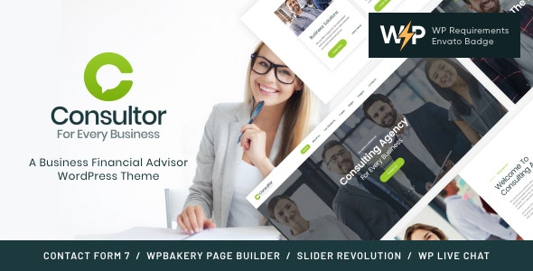 Consultor | A Business Financial Advisor WordPress Theme - Business Corporate
