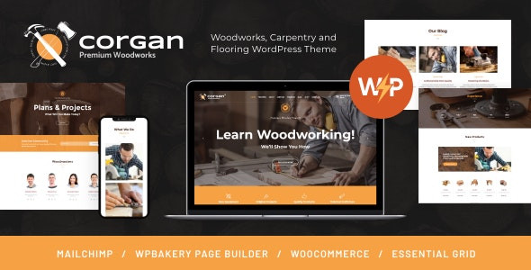 Corgan | Woodworks, Carpentry and Flooring WordPress Theme - Business Corporate