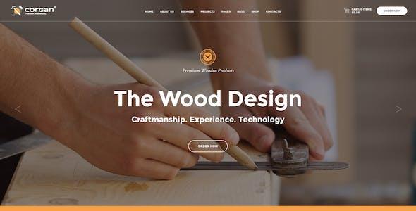 Corgan | Woodworks, Carpentry and Flooring WordPress Theme