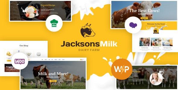 Dairy Farm & Eco Milk Products WordPress Theme - Food Retail