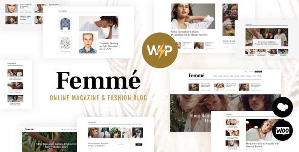 Femme - An Online Magazine & Fashion Blog WordPress Theme + RTL