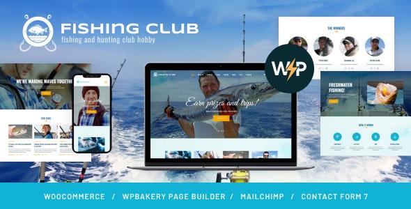Fishing and Hunting Club Hobby WordPress Theme - Travel Retail
