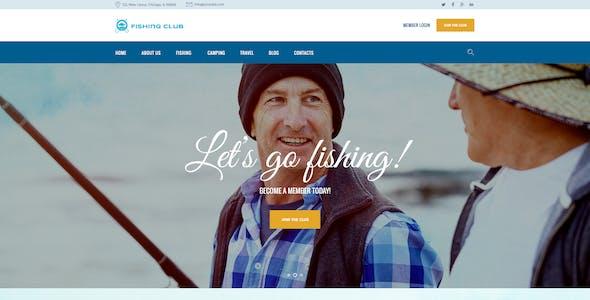 Fishing and Hunting Club Hobby WordPress Theme