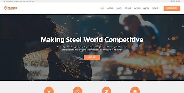 Franco | Steel Factory & Industrial Plant Manufactoring WordPress Theme
