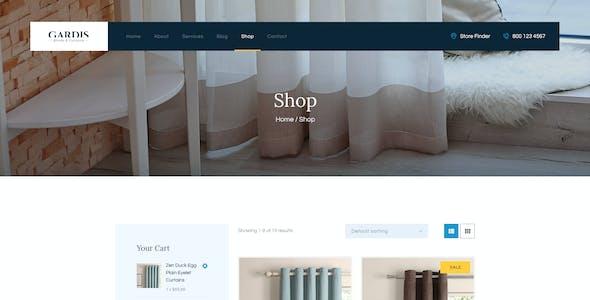 Gardis | Blinds and Curtains Studio & Shop WordPress Theme