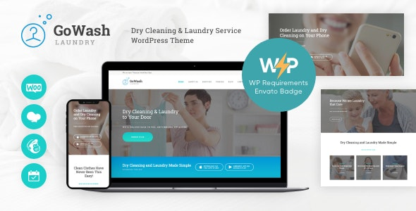 GoWash | Dry Cleaning & Laundry Service WordPress Theme - Business Corporate