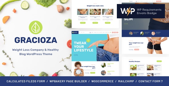 Gracioza | Weight Loss Company & Healthy Blog WordPress Theme - Blog / Magazine WordPress
