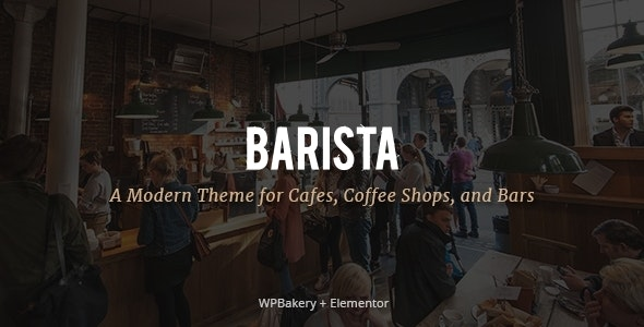 Barista - Modern Theme for Cafes, Coffee Shops and Bars - Restaurants & Cafes Entertainment