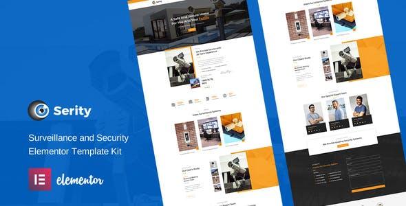 Serity - CCTV & Security Cameras Elementor Template Kit