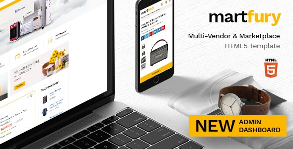 Martfury - Multipurpose Marketplace HTML5 Template + Admin Template - Retail Site Templates