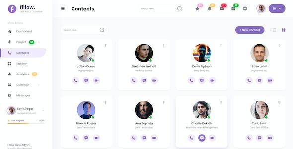 Fillow - Saas Admin Dashboard UI Template PSD