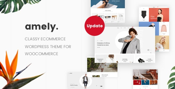 Amely - Fashion Shop WordPress Theme for WooCommerce - WooCommerce eCommerce