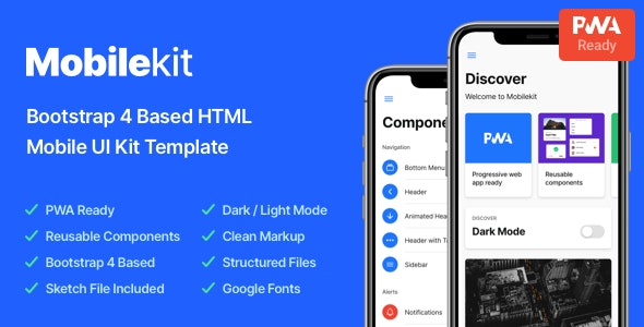 Mobilekit - Bootstrap 4 Based HTML Template - Mobile Site Templates