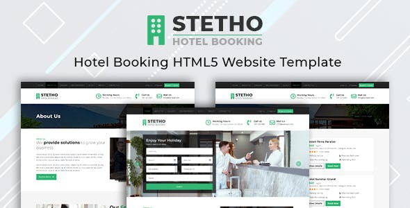 Stetho - Hotel Booking Multipage HTML5 Template