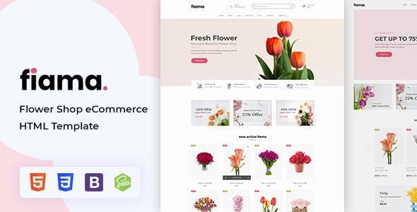 Fiama - Flower Shop & Florist HTML Template With RTL