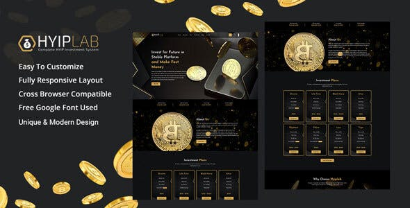 HYIPLaB - HYIP Investment HTML Template