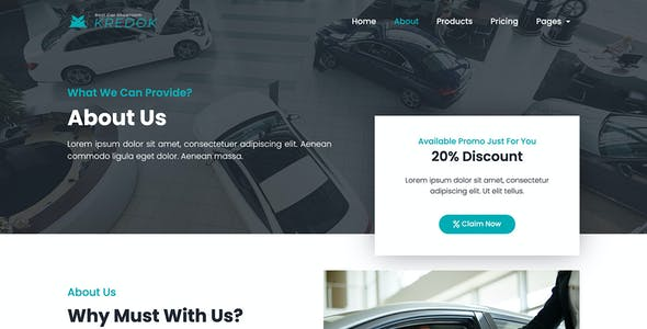 Kredok - Car Showroom Elementor Template Kit