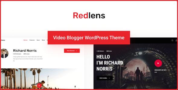 Redlens - Video Blogger WordPress Theme - Entertainment WordPress