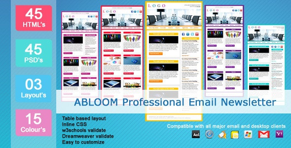 Abloom Email Newsletter - Newsletters Email Templates