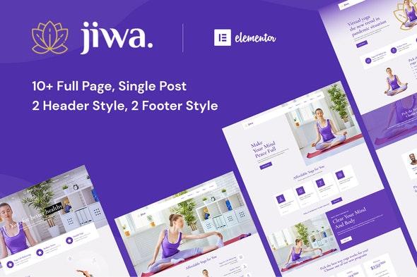 Jiwa - Yoga & Meditation Studio Elementor Template Kit - Sport & Fitness Elementor