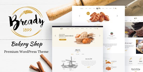 Bready – Cake Bakery  WordPress Theme