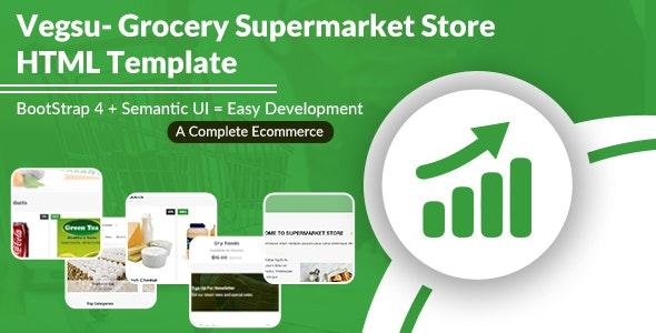 Vegsu - Grocery Supermarket Store HTML Templates - Shopping Retail