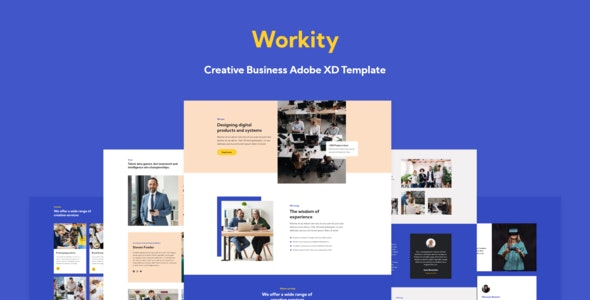 Workity - Creative Adobe XD Template - Creative Adobe XD