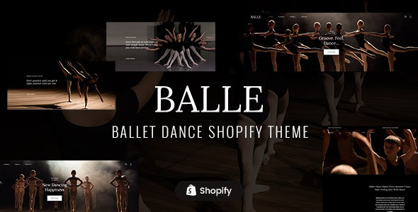 Balle - Dance Studio Shopify Theme - Health & Beauty Shopify