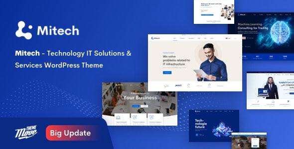 Mitech v1.6.4 – Technology IT Solutions & Services WordPress Theme