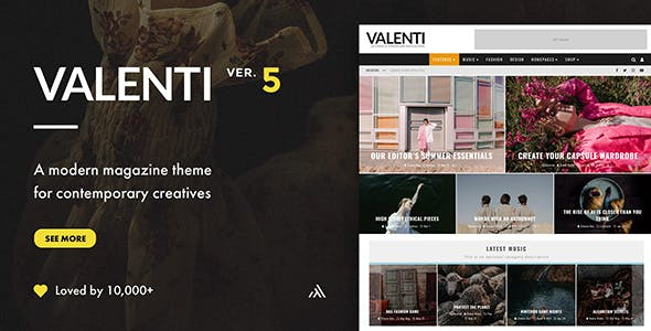 Valenti Website Templates from ThemeForest