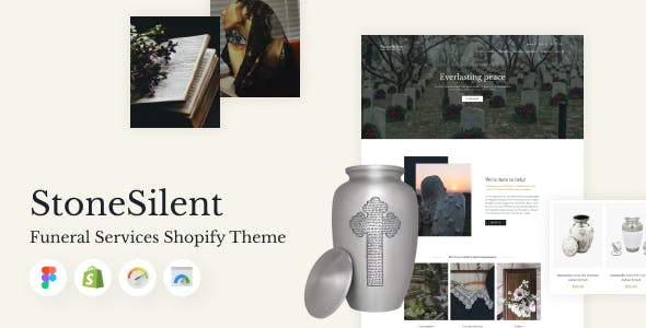 StoneSilent - Funeral Services Shopify Theme