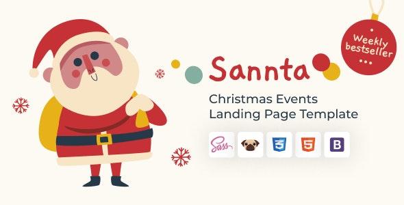 Sannta - Event Christmas Landing Page - Events Entertainment