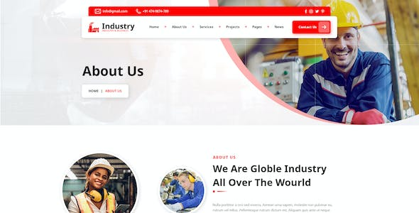 Industry - Industrial PSD Template