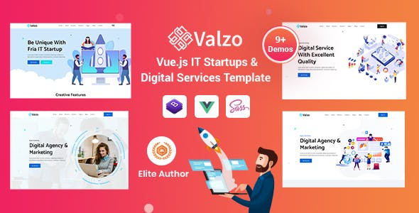 Valzo - Vuejs IT Startup Template