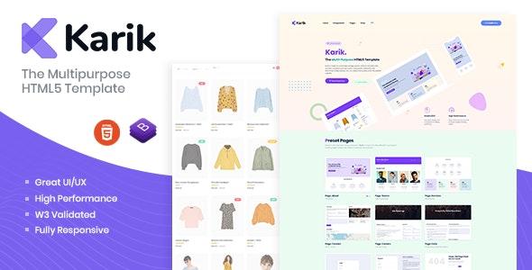 Karik - The Multipurpose HTML5 Template - Creative Site Templates