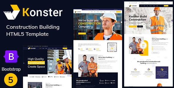 Konster - Construction Building Bootstrap5 Template - Site Templates