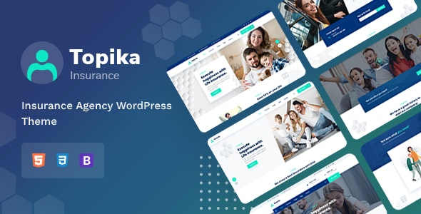 Topika - Insurance Company WordPress Theme