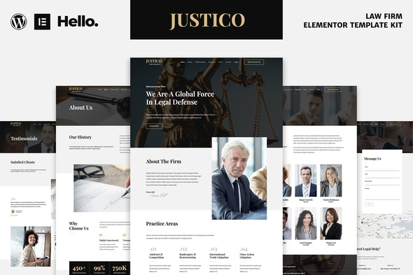 JUSTICO - Law Firm Elementor Template Kit - Finance & Law Elementor