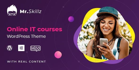 MrSkillz - IT Online Courses WordPress theme