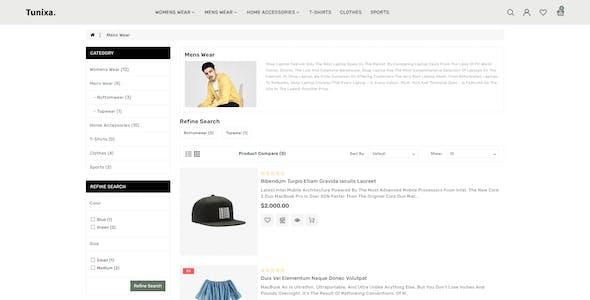 Tunixa - OpenCart 3 Fashion Responsive