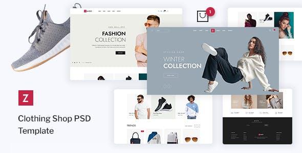 Zango - Clothing Shop PSD Template
