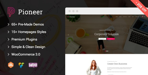 Pioneer - Multi-Concept Corporate WordPress Theme - Business Corporate