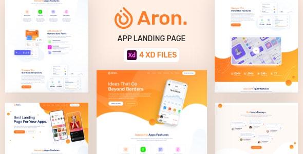 Aron - App Landing Page - Technology Adobe XD