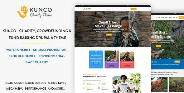 Kunco - Charity, Crowdfunding & Fund Raising Drupal 9 Theme