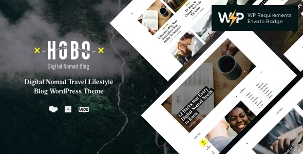 Hobo | Digital Nomad Travel Lifestyle Blog WordPress Theme - Travel Retail