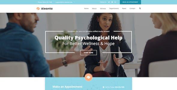 Aleanta - Psychology  Figma Template