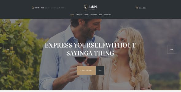 Jardi | Winery, Online Delivery Vineyard & Wine Shop WordPress Theme