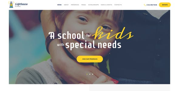 Lighthouse | School for Kids with Disabilities & Special Needs WordPress Theme