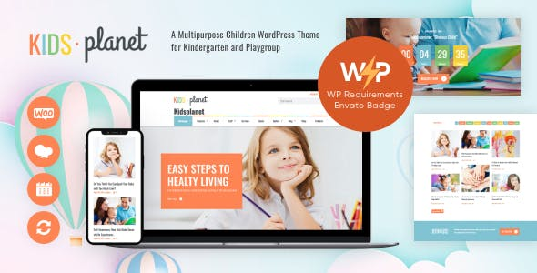Kids Planet - A Multipurpose Children WordPress Theme for Kindergarten and Playgroup