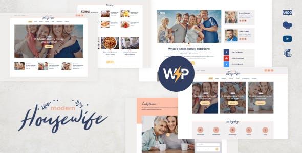 Modern Housewife | Women & Family WordPress Blog Theme